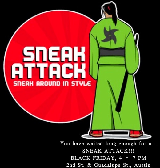 Sneak Attack flier